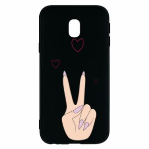Etui na Samsung J3 2017 Peace and love