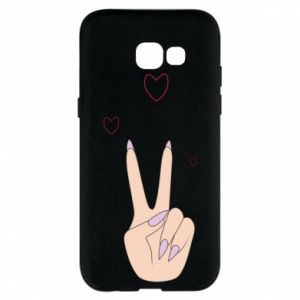 Etui na Samsung A5 2017 Peace and love
