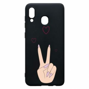 Etui na Samsung A20 Peace and love