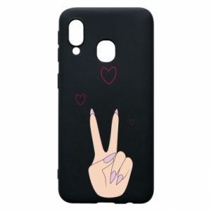 Etui na Samsung A40 Peace and love