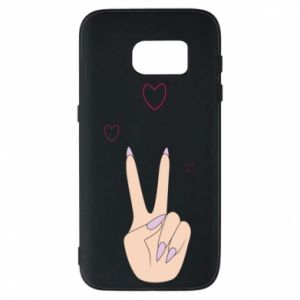Etui na Samsung S7 Peace and love