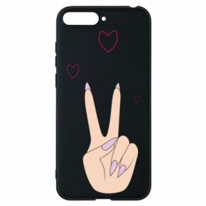Etui na Huawei Y6 2018 Peace and love