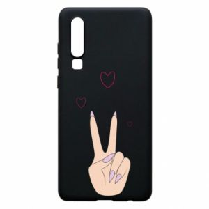 Etui na Huawei P30 Peace and love