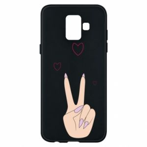 Etui na Samsung A6 2018 Peace and love