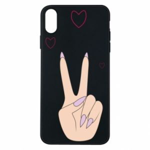 Etui na iPhone Xs Max Peace and love