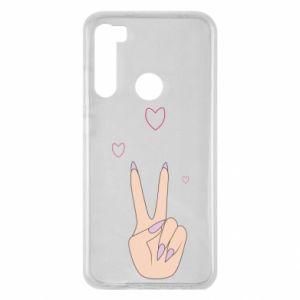 Xiaomi Redmi Note 8 Case Peace and love
