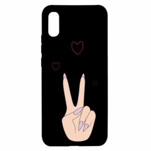 Xiaomi Redmi 9a Case Peace and love