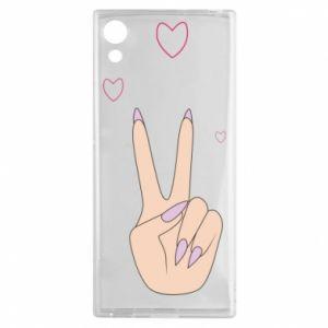 Sony Xperia XA1 Case Peace and love