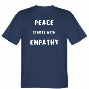Koszulka Peace starts with empathy