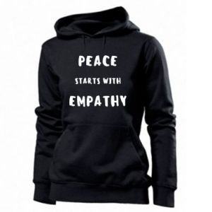Damska bluza Peace starts with empathy