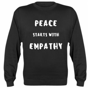 Bluza (raglan) Peace starts with empathy
