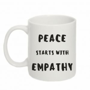 Kubek 330ml Peace starts with empathy
