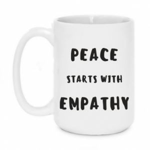 Kubek 450ml Peace starts with empathy
