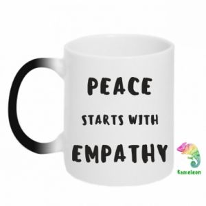 Kubek-kameleon Peace starts with empathy