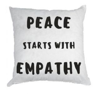 Poduszka Peace starts with empathy