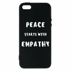Etui na iPhone 5/5S/SE Peace starts with empathy