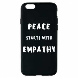 Etui na iPhone 6/6S Peace starts with empathy