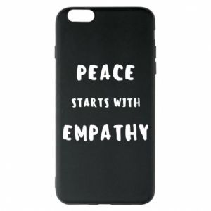 Etui na iPhone 6 Plus/6S Plus Peace starts with empathy