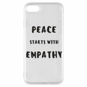 Etui na iPhone 7 Peace starts with empathy