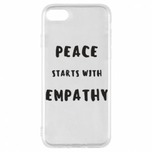 Etui na iPhone 8 Peace starts with empathy