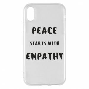 Etui na iPhone X/Xs Peace starts with empathy