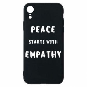 Etui na iPhone XR Peace starts with empathy