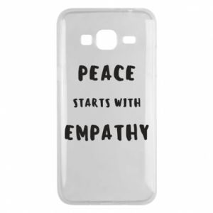 Etui na Samsung J3 2016 Peace starts with empathy