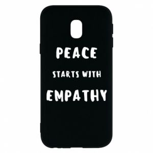 Etui na Samsung J3 2017 Peace starts with empathy