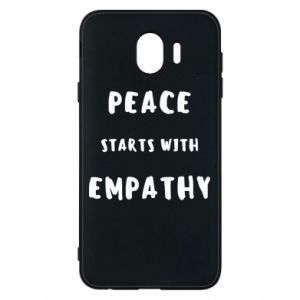 Etui na Samsung J4 Peace starts with empathy