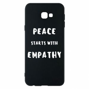 Etui na Samsung J4 Plus 2018 Peace starts with empathy
