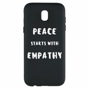 Etui na Samsung J5 2017 Peace starts with empathy