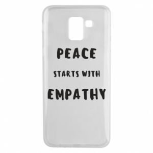 Etui na Samsung J6 Peace starts with empathy