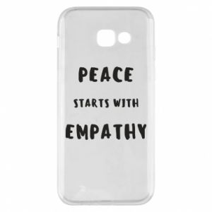 Etui na Samsung A5 2017 Peace starts with empathy