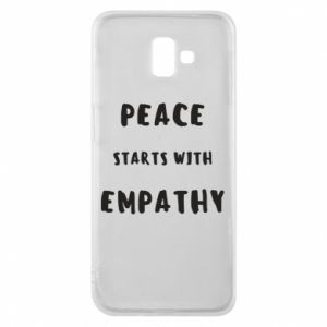 Etui na Samsung J6 Plus 2018 Peace starts with empathy
