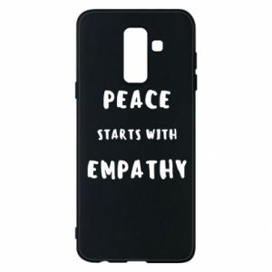 Etui na Samsung A6+ 2018 Peace starts with empathy