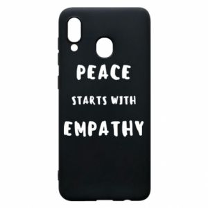 Etui na Samsung A30 Peace starts with empathy