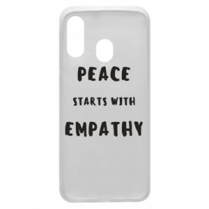 Etui na Samsung A40 Peace starts with empathy