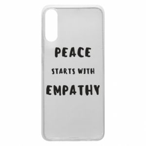 Etui na Samsung A70 Peace starts with empathy