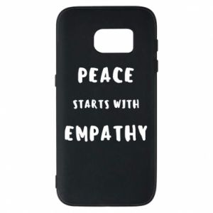 Etui na Samsung S7 Peace starts with empathy