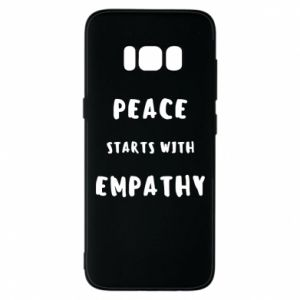 Etui na Samsung S8 Peace starts with empathy