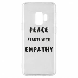 Etui na Samsung S9 Peace starts with empathy