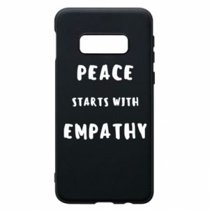 Etui na Samsung S10e Peace starts with empathy