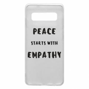 Etui na Samsung S10 Peace starts with empathy