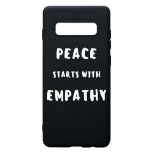 Etui na Samsung S10+ Peace starts with empathy