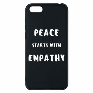 Etui na Huawei Y5 2018 Peace starts with empathy