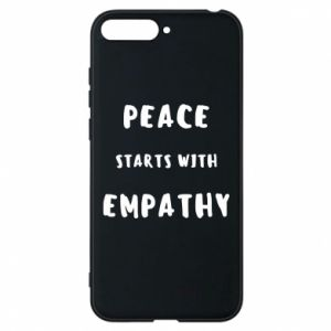Etui na Huawei Y6 2018 Peace starts with empathy