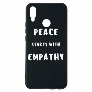 Etui na Huawei P Smart Plus Peace starts with empathy