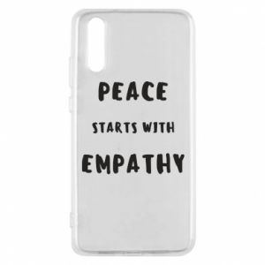 Etui na Huawei P20 Peace starts with empathy