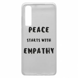 Etui na Huawei P30 Peace starts with empathy