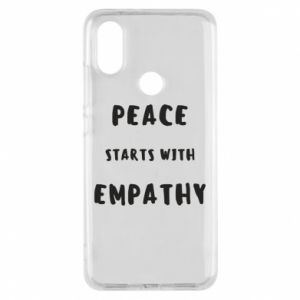 Etui na Xiaomi Mi A2 Peace starts with empathy